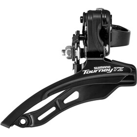 Shimano Tourney TZ FD-TZ500 Voorderailleur 3x6/7-speed Down Swing Klem laag, black